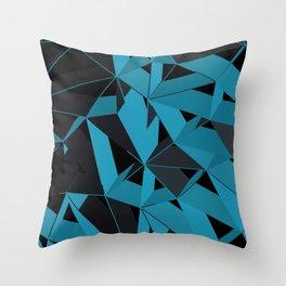 3D Futuristic GEO BG II Throw Pillow