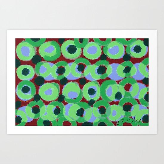 Circles and Dots Art Print
