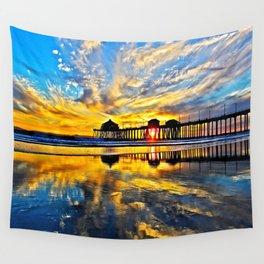 Sunset ~ Huntington Beach Pier CA  11/7/13 Wall Tapestry