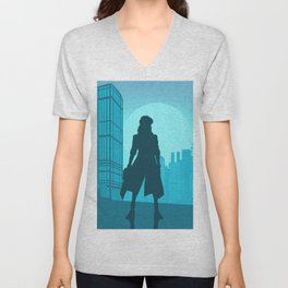 ghost in the shell minimalism Unisex V-Neck