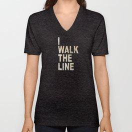 I Walk The Line Unisex V-Neck