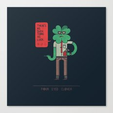 Four Eyed Clover Canvas Print