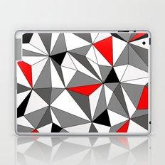 Geo - red, gray, black and white Laptop & iPad Skin