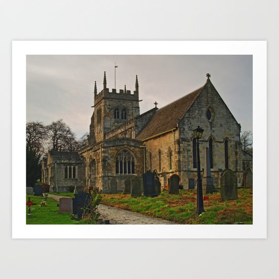 All Saints, Sherburn-in-Elmet Art Print