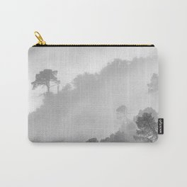 Mountain light. BW square Carry-All Pouch