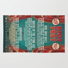Festival Lineup - Riot Fest Rug