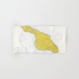 Vintage Map of Santa Catalina Island CA (1972) Hand & Bath Towel