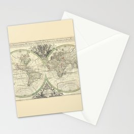 Antique Map from 1691, Sanson Stationery Cards