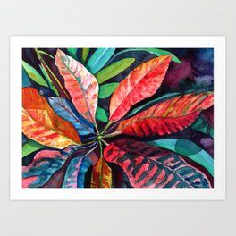 Colorful Tropical Leaves 2 Art Print