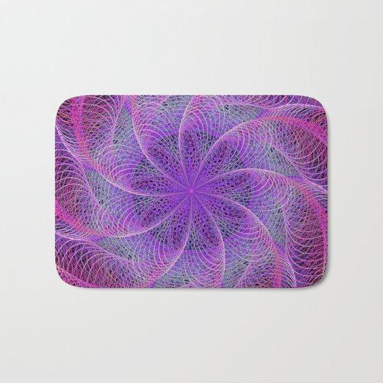 Pink spiral magic Bath Mat