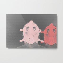 Pastel Masks Metal Print