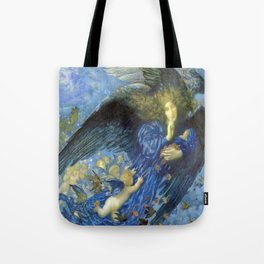 Night with her Train of Stars by Edward Robert Hughes Tote Bag