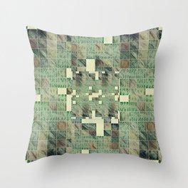 topographical digital camo Throw Pillow