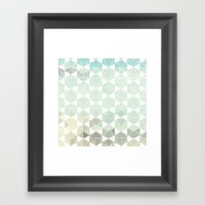 Geometric Sand & Sea Framed Art Print