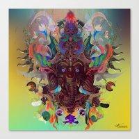 ganesha Canvas Prints featuring Ganesha by Archan Nair