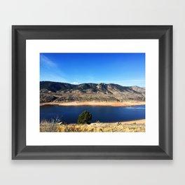 Horsetooth Reservoir Fort Collins Colorado Color Photo Framed Art Print