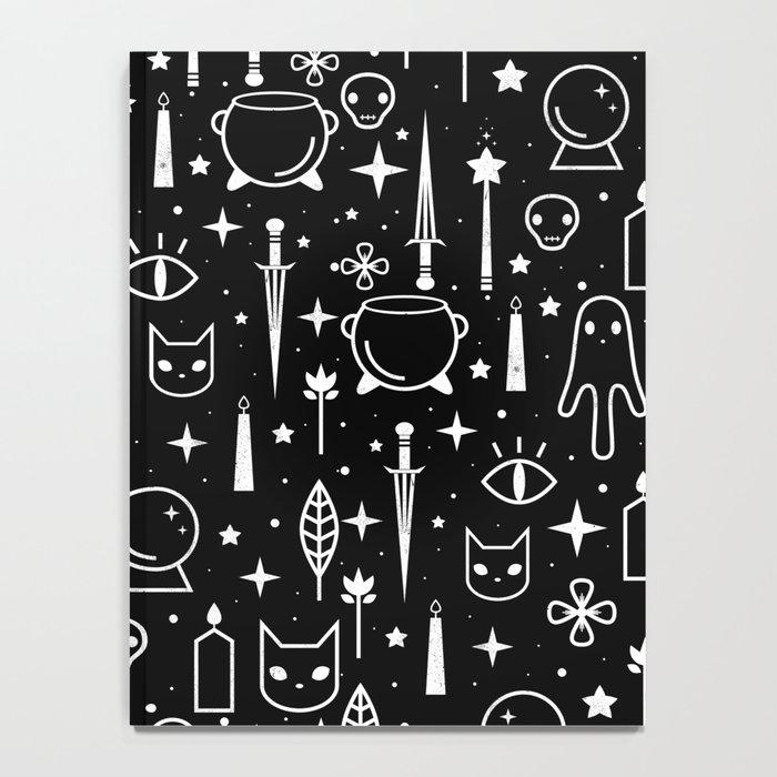 Spirit Symbols Black Notebook