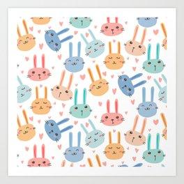 Funny Bunnies Art Print