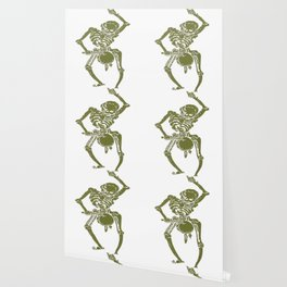 A Zombie Undead Skeleton Marching and Beating A Drum Wallpaper