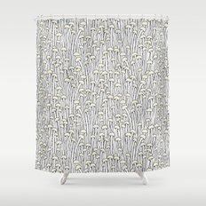 Enokitake Mushrooms (pattern) Shower Curtain