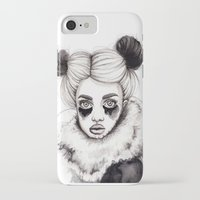 red panda iPhone & iPod Cases featuring Panda by Nora Bisi