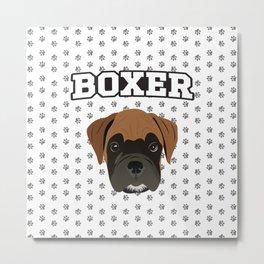Boxer Love Metal Print