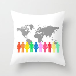 Be Engaged in Sharing the Gospel of Christ Throw Pillow
