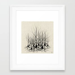 Pyramidal Neuron Forest Framed Art Print