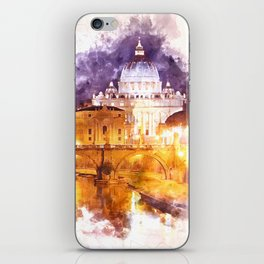 Holy Angel Bridge and St. Peter's Basilica iPhone Skin