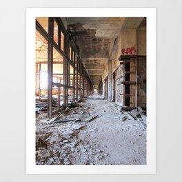 Packard Plant Hall Art Print