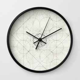 Geometry Sketch Four Wall Clock