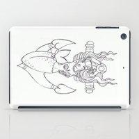rockabilly iPad Cases featuring Rockabilly Mermaid by Brogan Nugent Tickner