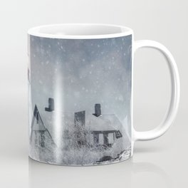 New England Winter Lighthouse Coffee Mug