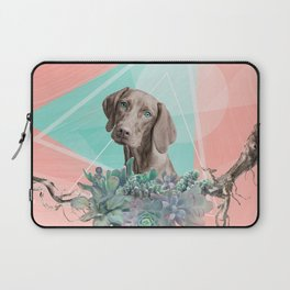Eclectic Geometric Redbone Coonhound Dog Laptop Sleeve