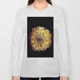 Golden Dahlia Mandala Long Sleeve T-shirt