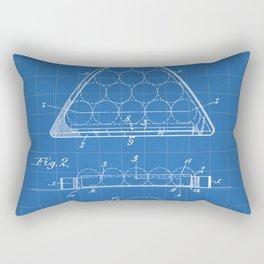 Pool Patent - Billiards Art - Blueprint Rectangular Pillow