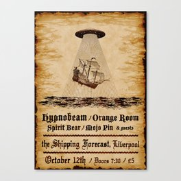Gig poster for the shipping forecast, Liverpool Canvas Print