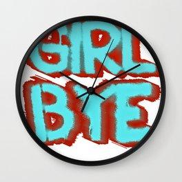 Girl Bye Wall Clock