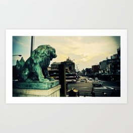 Kyoto temple entrance Art Print
