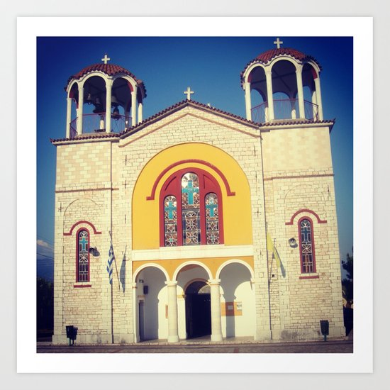 Greek Church Art Print