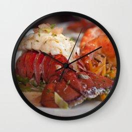 Lobster dinner Wall Clock