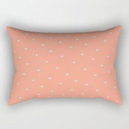 Coral Hearts Rectangular Pillow