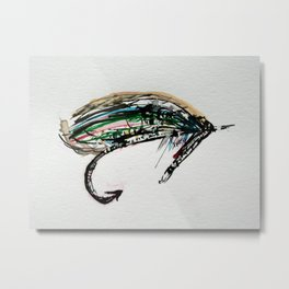 Fly Fishing Fly 2 Metal Print