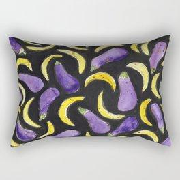 Eggplant & Bananas Rectangular Pillow