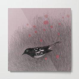 Pink Snow Metal Print