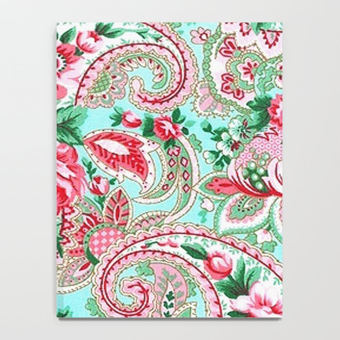 Floral Paisley Pattern 01 Notebook