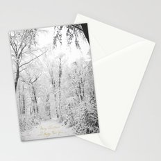 Happy snow Stationery Cards