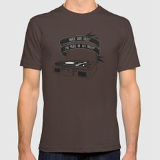 Which Came First, The Music or The Misery? Brown LARGE Mens Fitted Tee