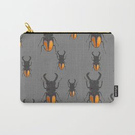 NATURE LOVERS STAG HORNED BEETLES BUG GREY ART M Carry-All Pouch