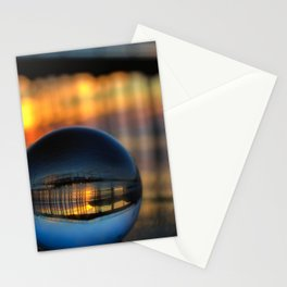 Avila Pier Captured in a crystal ball at sunrise Stationery Cards